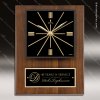 Corporate Walnut Plaque Wall Clock Black Face & Plate Placard Award Engraved Plaque Wall Clocks