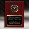 Corporate Rosewood Plaque Wall Clock Black Face Placard Award Engraved Plaque Wall Clocks
