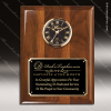 Corporate Walnut Plaque Wall Clock Black Face Placard Award Engraved Plaque Wall Clocks