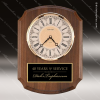 American Walnut Vertical Wall Clock. Engraved Plaque Wall Clocks