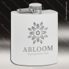 Engraved Stainless Steel Flask 6 Oz. Powder Coated - White Engraved Stainless Flasks