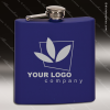 Engraved Stainless Steel Flask 6 Oz. Blue Matte Gift Award Engraved Stainless Flasks