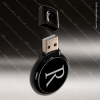 Laser Engraved Keychain 8GB Round USB Flash Thumb Drive Black Gift Award Engraved USB Items