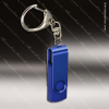 Laser Engraved Keychain 4GB USB Flash Thumb Drive Blue Gift Award Engraved USB Items