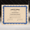 Certificate of Athletic Award Fill in the Blank Certificates