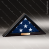 USA Engraved Satin Black Retirement Memorial American Flag Display Case Flag Display Case