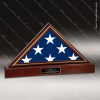 USA Engraved  Cherry Hardwood Retirement Memorial American Flag Display Cas Flag Display Case