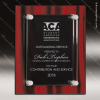 Engraved Acrylic Plaque Red Velvet Floating Stand-Off Wall Placard Award Floating Clear Acrylic Plaques