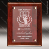 Engraved Rosewood Plaque Floating Acrylic Wall Placard Award Floating Clear Acrylic Plaques