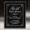 Engraved Black Piano Finish Plaque Floating Acrylic Magna Wall Placard Awar Floating Clear Acrylic Plaques