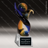 Jitterbug Swivel Glass Art Trophy Awards