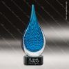 Jezabel Teardrop Glass Art Trophy Awards