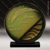 Vihala Sphere Artistic Gold Orange Art Glass Trophy Award Green Accented Artisitc Awards