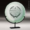 Artistic Jade Green Rawlings Plate Plate Trophy Award Green Accented Artisitc Awards