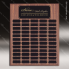 The Johnstone Laminated Walnut Perpetual Plaque  60 Black Plates Large Perpetual Plaques - 40-100 Plates