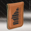 Laser Engraved Leather Money Clip Rawhide Etched Gift Leather Money Clips