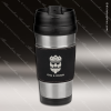 Engraved Leather Stainless Steel 16 Oz. Mug Black Grip Laser Etched Gift Leather Mugs & Drink Holders