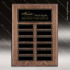 The Monroe Laminate Walnut Perpetual Plaque  12 Black Plates Magnet Plate Perpetual Plaques
