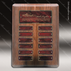 The Monico Walnut Perpetual Plaque Round Corner  12 Red Marble Plates Marble Plate Finish Perpetual Plaques