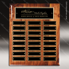 The Memmott Walnut Piano Finish Perpetual Plaque  24 Black Plates Medium Perpetual Plaques - 24-36 Plates