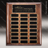 The Melzeo Walnut Piano Finish Perpetual Plaque  24 Black Plates Medium Perpetual Plaques - 24-36 Plates