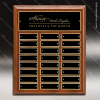 The Memolo Walnut Piano Finish Perpetual Plaque  24 Black Plates Medium Perpetual Plaques - 24-36 Plates