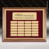 The McAllen Walnut Framed Perpetual Plaque  24 Gold Plates Medium Perpetual Plaques - 24-36 Plates