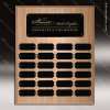 The Joffrion Laminated Oak Perpetual Plaque  24 Black Plates Medium Perpetual Plaques - 24-36 Plates