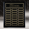 The Maberry Black Piano Finish Perpetual Plaque  24 Black Plates Medium Perpetual Plaques - 24-36 Plates