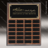 The Jessen Walnut Perpetual Plaque Step Edge  24 Black Plates Medium Perpetual Plaques - 24-36 Plates