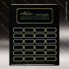 The Jacques Black Piano Finish Perpetual Plaque  24 Black Plates Medium Perpetual Plaques - 24-36 Plates