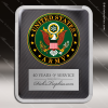 Engraved Metal Stainless Steal Plaque US Army Seal Military Wall Placard Aw Metal Finish Plaques