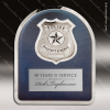 Engraved Metal Stainless Steal Plaque Police Badge Wall Placard Award Metal Finish Plaques