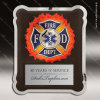 Engraved Metal Stainless Steal Plaque Firefighter Medical/EMT Wall Placard Metal Finish Plaques