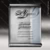 Engraved Glass Plaque Silver Scrolls Wall Placard Award Metal Finish Plaques