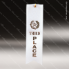 White 3rd Place Ribbon Peaked Bottom Award Ribbons