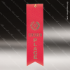 Red 2nd Place Ribbon Peaked Bottom Award Ribbons