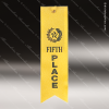 Yellow 5th Place Ribbon Peaked Bottom Award Ribbons