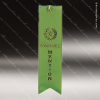 Green Honorable Mention Ribbon Peaked Bottom Award Ribbons