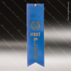 Blue 1st Place Ribbon Peaked Bottom Award Ribbons