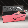 Engraved Etched Leather Wine Tool Set Pink Presentation Box Gift Set Aw Pink Leather Wine Boxes & Tool Sets