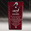 Glass Rosewood Accented Silver Star Award Rosewood Accented Glass Awards