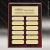 The Macari Rosewood Perpetual Plaque  12 Gold Plates Rosewood Perpetual Plaques