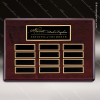 The Tagmillo Rosewood Perpetual Plaque  12 Black Plates Rosewood Perpetual Plaques