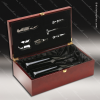 Engraved Etched Wine Tool Set Rosewood Double Bottle Presentation Box Gift Rosewood Wine Boxes & Tool Sets