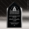 Acrylic Black Accented Steeple Silhouette Award Sales Trophy Awards