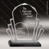Acrylic Black Accented Faceted Impress Award Sales Trophy Awards