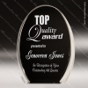 Acrylic Black Accented Luminary Oval Award Sales Trophy Awards
