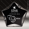 Acrylic Black Accented Luminary Star Award Sales Trophy Awards