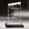 Acrylic Black Accented Frosted Ice Impress Award Sales Trophy Awards